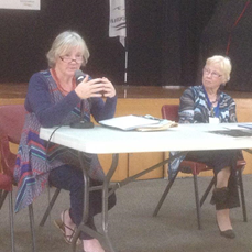 Wilma Mann with Sheila Twine