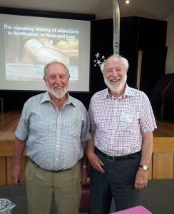 Professor Max Kamien with Dr. Jim Leavesley